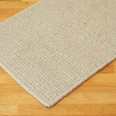 All-Natural Wool Herringbone Tan Rug