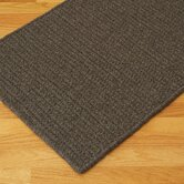 All-Natural Wool Herringbone Dark Brown Rug