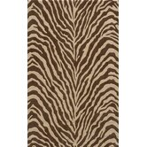 Deco Zebra Brown Rug