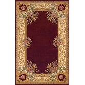 Harmony Burgundy Floral Rug