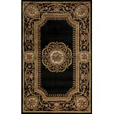 Harmony Black Floral Rug