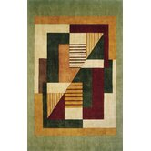 New Wave Green Multi Rug