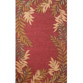 Spello Red Fern Border Rug
