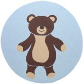 Playground Light Blue/Chocolate Kids Rug
