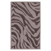 Goa Flint Gray Zebra Printed Rug