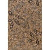 Patio Laurel Leaves Brown/Black Rug