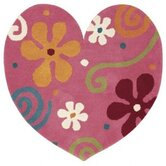 Fantasia Heart Light Pink Kids Rug