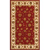 Jewel Red/Beige Rug