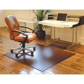 Bamboo Standard Hard Floor Rounded Edge Chair Mat