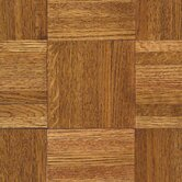 "Urethane Parquet 12"" x 12"" x 7/16"" Solid Oak in Honey"