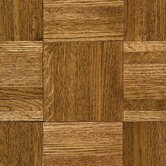 Urethane Parquet 12&quot; x 12&quot; x 5/16&quot; Solid Oak in Tawney Spice