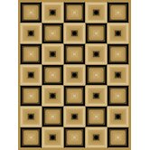 Blocks Dimensions Squares Beige/ Black Rug