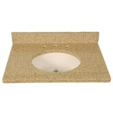 "43"" x 22"" 3cm Single Bowl Granite Vanity Top with 8"" Centers"