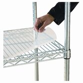 Shelf Liners For Wire Shelving, 36w x 18d, Clear Plastic, 4 Pack