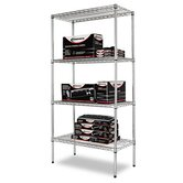 Four-shelf 36&quot; W x 18&quot; D Industrial Wire Shelving Starter Kit