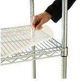 36&quot; W x 24&quot; D Shelf Liners for Wire Shelving in Clear Plastic