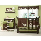 Green Elephant Crib Bedding Collection
