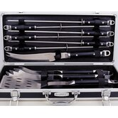 10 Piece Barbecue Set with Case