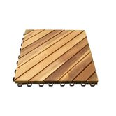 Eco-Friendly Acacia Hardwood / 12 Diagonal Slats