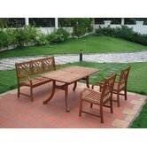 Atlantic 4 Piece Dining Set
