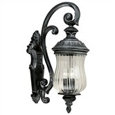 Troubadour  Low Outlet Medium Wall Lantern in Ebony Pearl