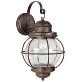 Hatteras  Large Wall Lantern in Gilded Copper