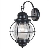 Hatteras  Large Wall Lantern In Black