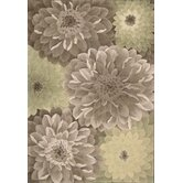 Tropics Taupe/Green Novelty Rug