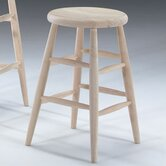 "24"" Scooped Seat Stool"