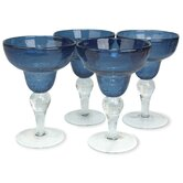 Iris Margarita Glass in Slate Blue (Set of 4)