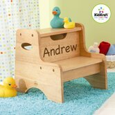 Personalized Two Step Stool in Natural