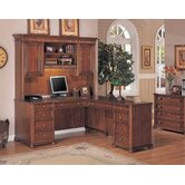 Camden L-Shape Executive Desk with optional Hutch