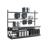 96&quot; Performance LAN Station Workbench with Full Bottom Shelf