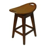 Thoroughbred 26.75&quot; Backless Swivel Counter Stool in Cherry