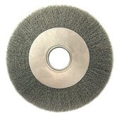 "Medium Face Crimped Wire Wheels-DA Series - da8 8"" .014 crimped wirewheel brush w/2"" arbor"