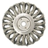 "Medium Face Standard Twist Knot Wire Wheels-TS & TSX Series - ts4 .020 hurricane knotwheel 4"" dia.5/8-11""ah"
