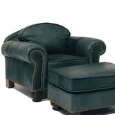 Carlton Leather Chair and Ottoman