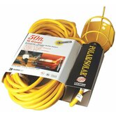 Coleman Cable - Polar/Solar Trouble Lights 50' Yellow Polar/Solar Trouble Light W/Metal Gua: 172-05658 - 50' yellow polar/solar trouble light w/metal gua