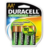 Rechargeable Nimh Batteries with Duralock Power Preserve Tech, 4/Pack