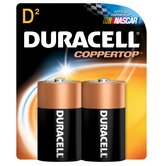 D Cell Long Lasting Power Alkaline Battery (Set of 2)