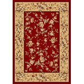 Cambridge Red/Beige Floral Rug