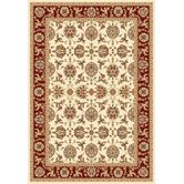 Kashan Cambridge Ivory/Red Rug