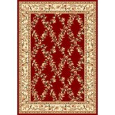 Cambridge Red/Ivory Trellis Rug