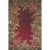 Emerald Ruby Tropical Border Rug