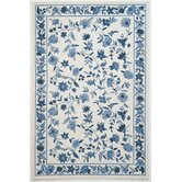 Colonial Ivory/Blue Floral Rug