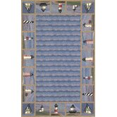 Colonial Lighthouse Nautical Novelty Rug
