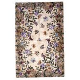 Emerald Butterfly Garden Novelty Rug