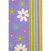 Kidding Around Groovy Flora Kids Rug