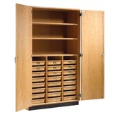 Tote Tray and Shelving Storage Cabinet