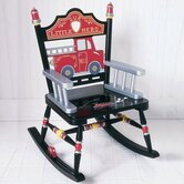 Rock A Buddies Fire Engine Kid Rocking Chair